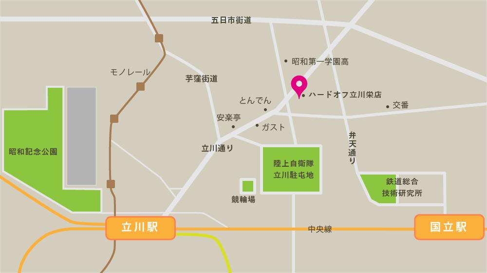 直売所周辺のイラストマップ